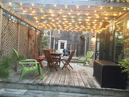 Wellfleet Cape Cod vacation rental - Quaint back patio off of living room.