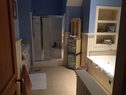 Wellfleet Cape Cod vacation rental - Master Bathroom with Jacuzzi.