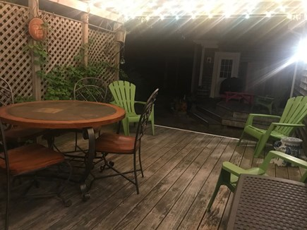Wellfleet Cape Cod vacation rental - Quaint Back Patio, private, quiet with Bistro Lighting.
