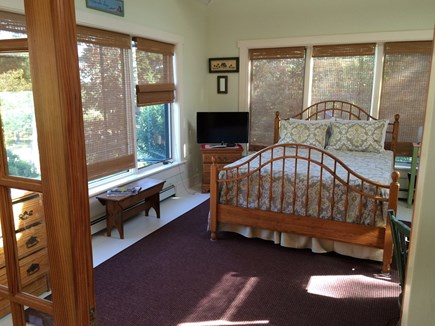 Wellfleet Cape Cod vacation rental - First floor bedroom Queen with Armoire & AC.