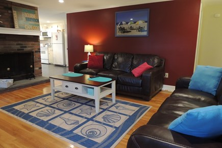 Harwich Cape Cod vacation rental - Living Room opens to Kitchen