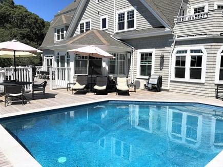 Falmouth Cape Cod vacation rental - Pool and large deck area
