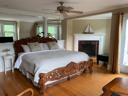 Falmouth Cape Cod vacation rental - Bedroom with King Bed and Sitting area