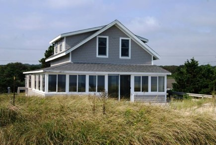 Sagamore Beach, Sandwich Sagamore Beach vacation rental - View of House from Beach