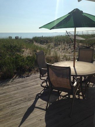 Sagamore Beach, Sandwich Sagamore Beach vacation rental - Enjoy meals on the deck overlooking the Ocean!