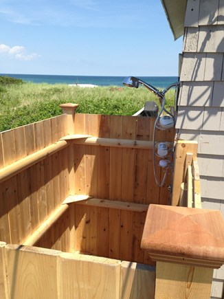Sagamore Beach, Sandwich Sagamore Beach vacation rental - Outdoor Shower...w/ extra faucet to clean sand off of feet