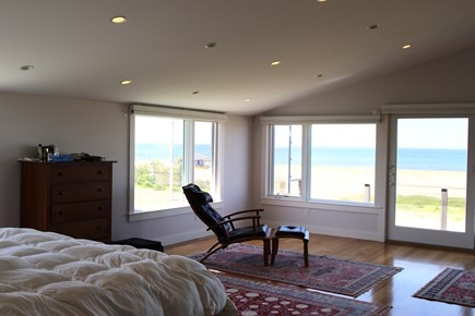 Truro Cape Cod vacation rental - Master bedroom suite,sliders to private deck with plenty of views
