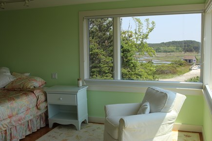 Truro Cape Cod vacation rental - Upper level queen bedroom; large bath with deep tub,glass shower