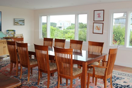 Truro Cape Cod vacation rental - Dining easily seats 12 people and looks out to the Bay