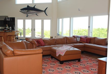 Truro Cape Cod vacation rental - Great Room looks to Bay and the sunsets