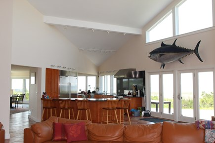 Truro Cape Cod vacation rental - Light-filled Great Room opens to the deck