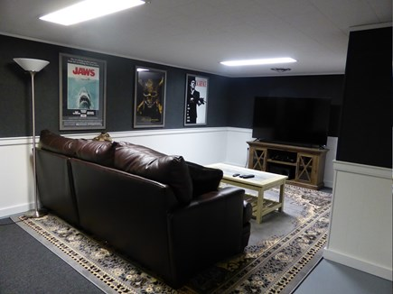 Eastham Cape Cod vacation rental - Theater Room in basement