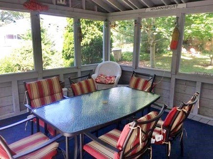 West Hyannisport Cape Cod vacation rental - Screened in Porch