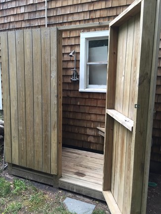 Falmouth Cape Cod vacation rental - Renovated  Outdoor Shower  surrounded by woods