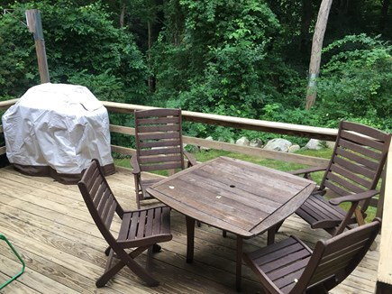 Falmouth Cape Cod vacation rental - Relax in quiet, private wooded patio setting