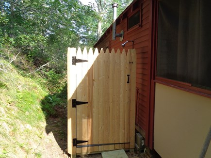 Truro Cape Cod vacation rental - Woohoo!  Outdoor Shower Abuts The Wooded Hill In Back