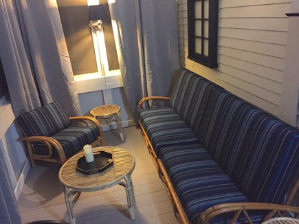Truro Cape Cod vacation rental - Nightime Ambiance On The Porch
