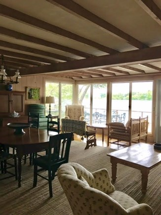 Centerville Centerville vacation rental - There are lots of comfy places to sit in the living/dining room.