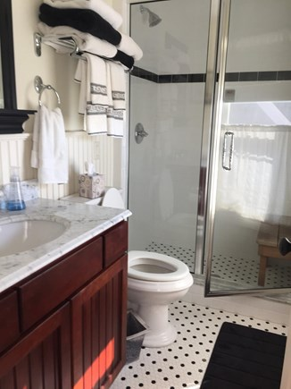 Dennis Cape Cod vacation rental - Upstairs master bedroom, walk in closet and steam shower bathroom
