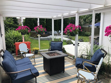 Harwichport Cape Cod vacation rental - Another outdoor gathering space with a fire - (off the kitchen)