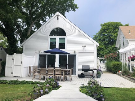 Harwichport Cape Cod vacation rental - Back Deck perfect for entertaining