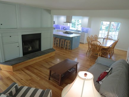 Harwich Cape Cod vacation rental - Living room has comfy lounge seating.