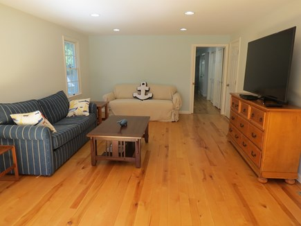 Harwich Cape Cod vacation rental - TV lounge with giant flat screen TV.