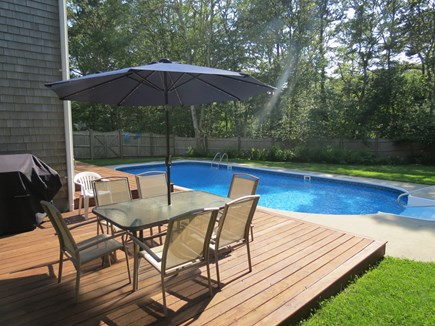 Harwich Cape Cod vacation rental - Enjoy meals overlooking the pool.