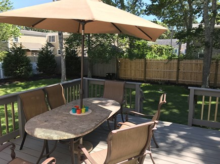 Falmouth Cape Cod vacation rental - Porch with patio set and gas grill