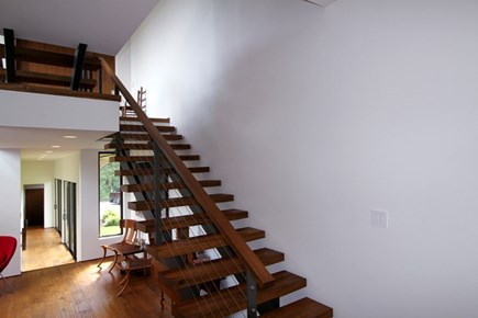 Brewster Cape Cod vacation rental - Stairway to Master suite
