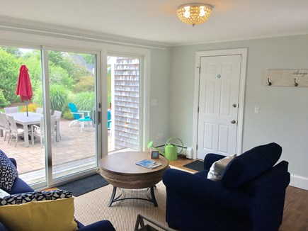 Chatham (in town) Cape Cod vacation rental - Sun room opens to the patio