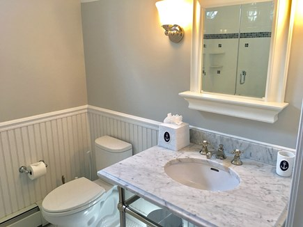 Chatham (in town) Cape Cod vacation rental - 2nd Floor en suite bathroom in Master (white subway tile shower)