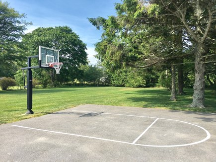 Chatham (in town) Cape Cod vacation rental - Half-basketball court & partial view of huge lawn (now w/pool)