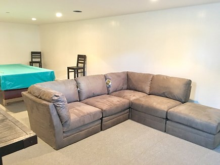 Chatham (in town) Cape Cod vacation rental - Sectional in lower-level pool room