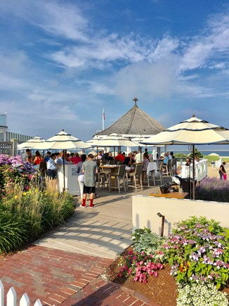 Chatham (in town) Cape Cod vacation rental - The Beach Bar (Chatham Bars Inn), a must for lunch, 10 min walk