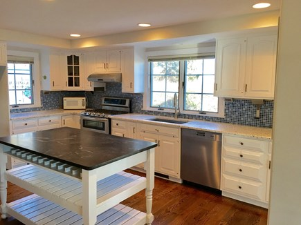 Chatham (in town) Cape Cod vacation rental - View of kitchen from living room