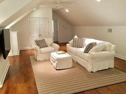 "Chatham (in town) Cape Cod vacation rental - 2nd Floor - Sitting area in 2nd floor King Master with 65"" TV"