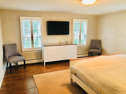 Chatham (in town) Cape Cod vacation rental - TV opposite King Bed in 1st floor master