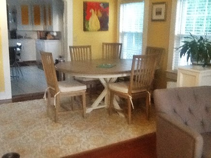 Provincetown Cape Cod vacation rental - Dining room table opens up to seat 8