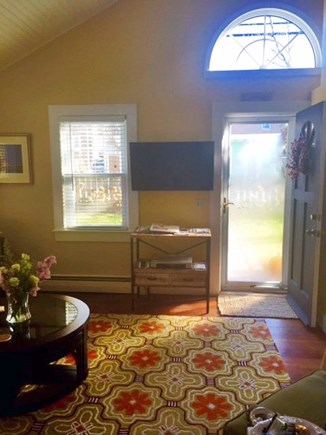 Provincetown Cape Cod vacation rental - Front door entrance to living room w flat screen tv