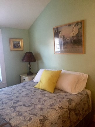 Provincetown Cape Cod vacation rental - Bedroom off dining room,w vaulted ceiling..queen bed