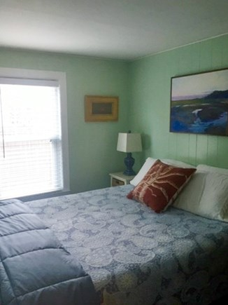 Provincetown Cape Cod vacation rental - Bedroom off kitchen, bright and cheery..queen bed