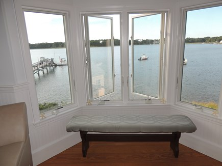 West Dennis - Bass River Cape Cod vacation rental - Second Floor Living room With Beautiful View