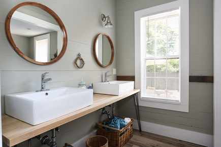 Harwich Center Cape Cod vacation rental - Double sinks in the main bathroom on the 1st floor