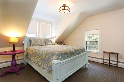 Harwich Center Cape Cod vacation rental - The rear bedroom on the 2nd floor has queen bed & it's own bath