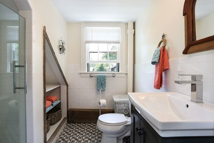 Harwich Center Cape Cod vacation rental - The private bathroom off the rear bedroom on the 2nd floor