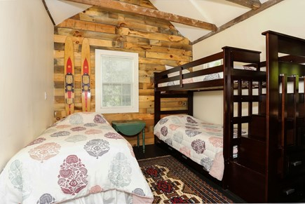 Harwich Center Cape Cod vacation rental - The Bunk Room at the rear of the first floor sleeps 3