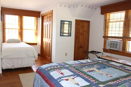 Eastham Cape Cod vacation rental - Bedroom #2, 2nd floor. Queen/ twin. Bathroom between bedrooms.