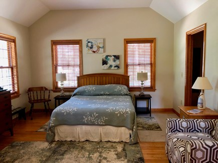 Eastham Cape Cod vacation rental - Master bedroom, first floor, with ensuite bathroom, queen bed.