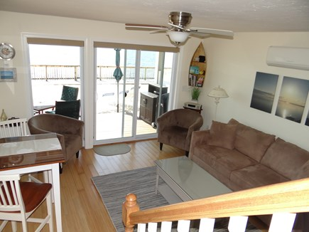 North Truro Cape Cod vacation rental - Living Room w/Queen pullout, AC and flat panel TV